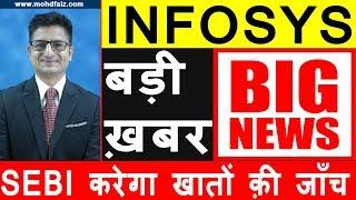 INFOSYS SHARE LATEST NEWS   बड़ी ख़बर SEBI करेगा खातों क़ी जाँच   INFOSYS SHARE PRICE ANALYSIS