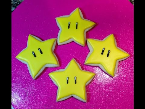 Power Star Cookie From Super Mario Video Game (How To)