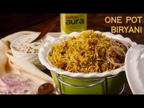 Kabuli Chana Biryani - One Pot Easy Dinner Recipes - Veg Hyderabadi CookingShooking