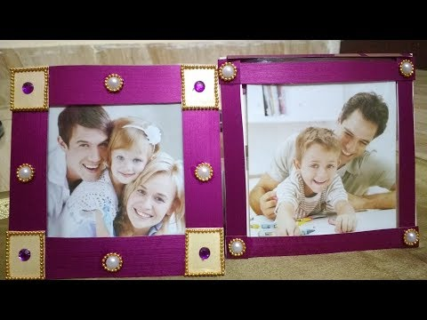 Easy and Pretty Photo frames out of old invitation cards