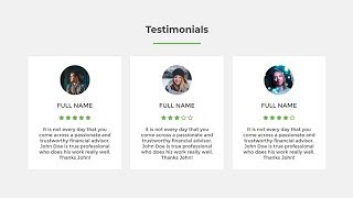 Responsive testimonials section using only HTML \u0026 CSS