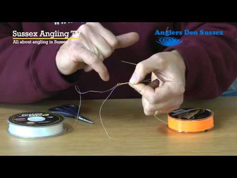 How to tie a tapered shockleader to a braided line with Glyn Morgan