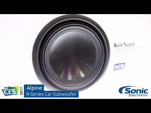 Alpine R-Series Car Subwoofer   CES 2017
