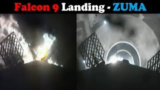 SpaceX ZUMA - Falcon 9 First Stage Landing