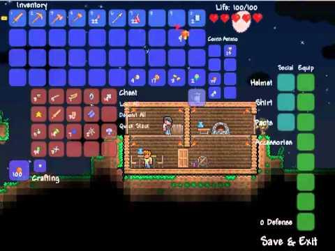 Let's Play Terraria || Part 3 - Barrel of Fun!