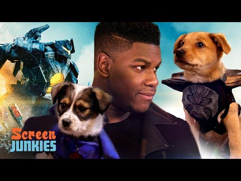 John Boyega and PUPPIES! Pacific Rim Uprising
