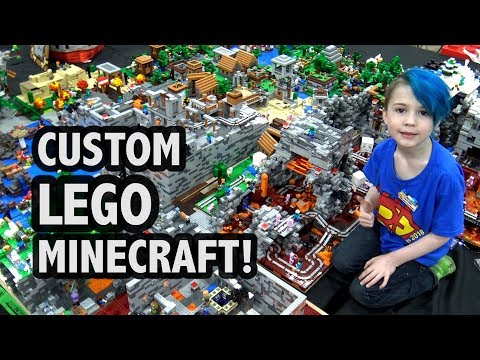 Massive LEGO Minecraft World Created by 7-Year-old