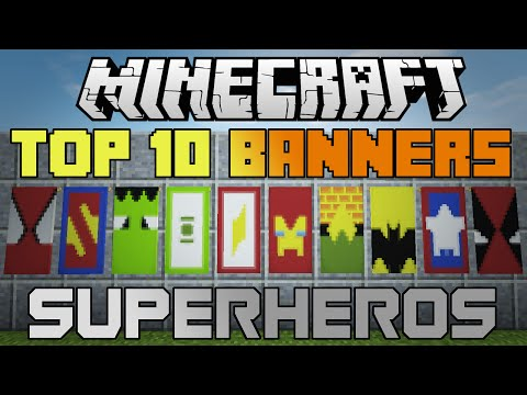 Minecraft 10 epic Superhero banners! With tutorial!