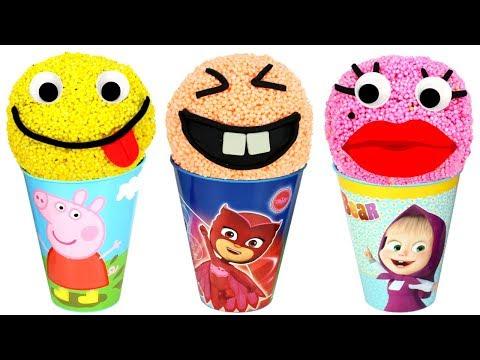 Foam Super Surprises with PJ Masks Peppa LOL Surprise Masha Oddbods Johny Johny Yes Papa Baby Shark