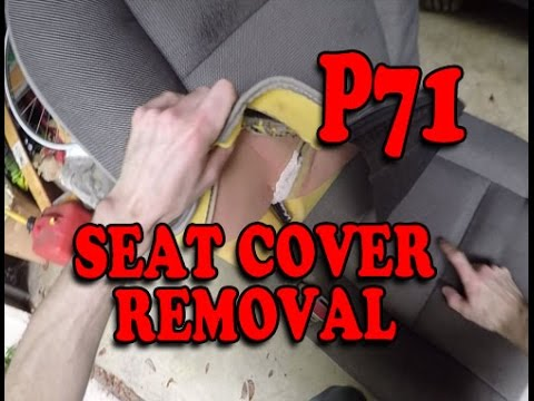 Seat Cover Removal P71 Crown Vic Police Interceptor