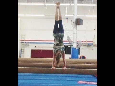 Handstands On The Balance Beam With Coach Meggin (Professional Gymnastics Coach)