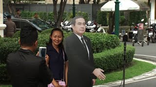Thai PM Uses Cutout of Self to Avoid Questions