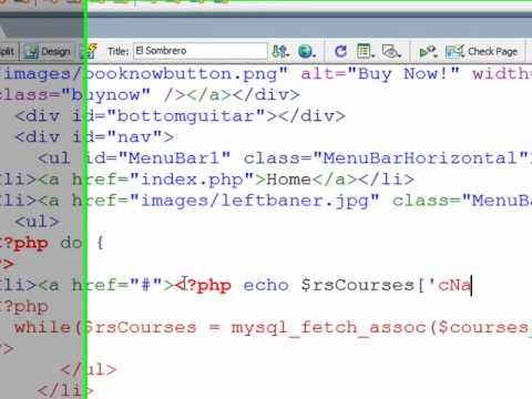 Creating a dynamic, database-driven dropdown menu