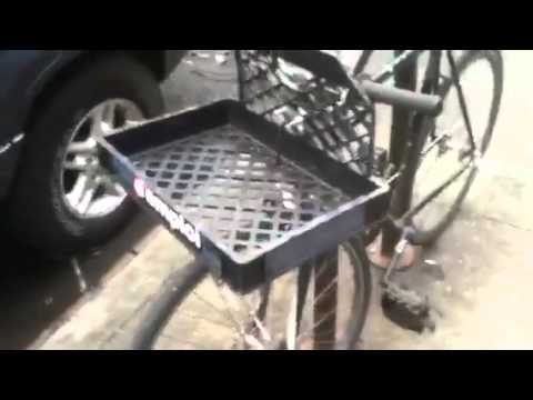 Front rack innovation for bicycle food couriers