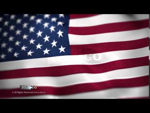 USA Flag - Royalty FREE Background Loop HD 1080p