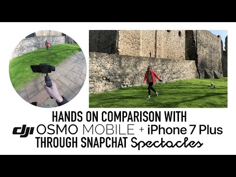 Using DJI Osmo Mobile through Snapchat spectacles
