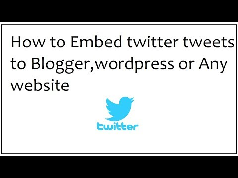how to embed twitter tweets to blogger,wordpress,websites