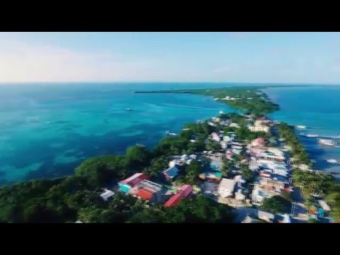 Drone in Ambergris Caye (San Pedro), Belize