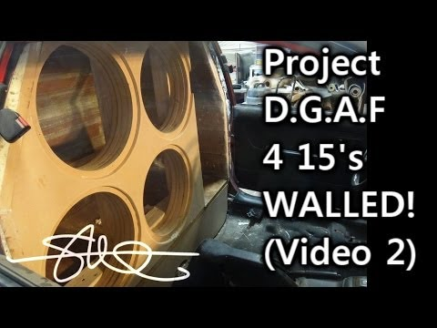 BIG BASS D.G.A.F Project - 4 15's Walled - '91 Toyota Tercel - Box Built Video 2