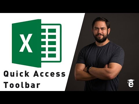 Customizing the Quick Access Toolbar in Excel