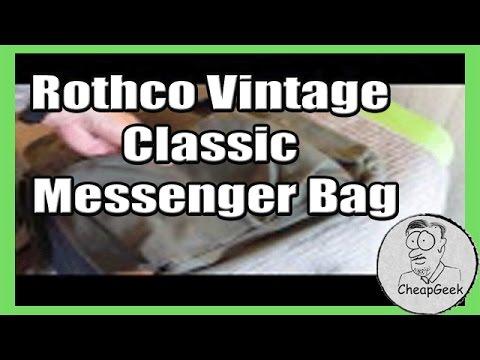 Rothco Vintage Classic Messenger Bag- Review