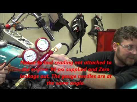 How to perform a cylinder leakdown test: Demo on Harley Shovelhead EVO TWIN CAM
