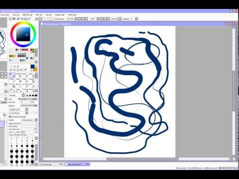Pressure Sensitivity in Paint Tool Sai