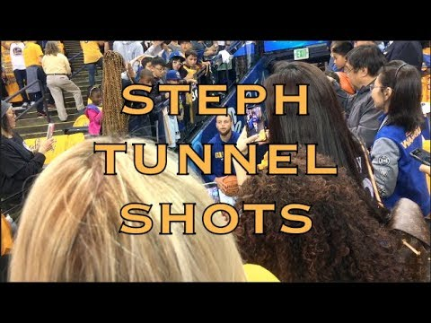Steph Curry tunnel shots from Oracle Arena, pregame 2018 WCF G6