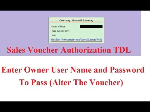 Tally TDL for Sales Voucher Authorization   Tally Add on for Sales Voucher Authorization