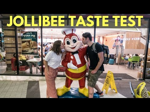 JOLLIBEE TASTE TEST - FOREIGNERS TRYING JOLLIBEE FOR FIRST TIME - JOLLIBEE VS. MCDONALDS