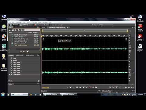 How to convert  mp2 to wav in Adobe Auditions HD