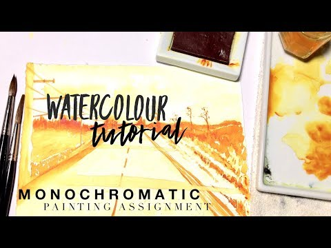 Monochromatic Assignment ~ WATERCOLOUR by Scarlett Damen