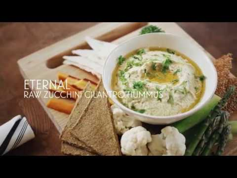 Eternal Raw Zucchini Cilantro Hummus
