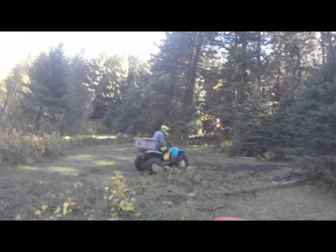 Quad trails above Princeton BC