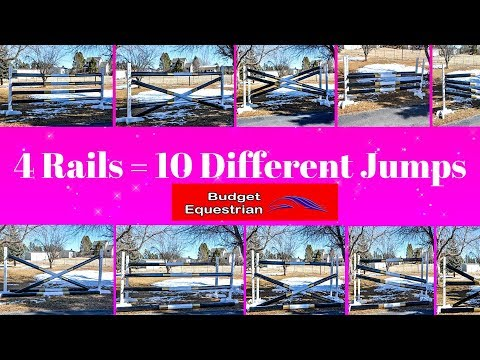 Make 10 Different Horse Jumps Using 4 Rails