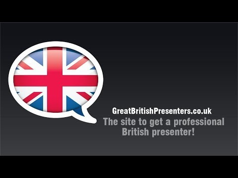 Great British Presenter Introduction Demo Reel