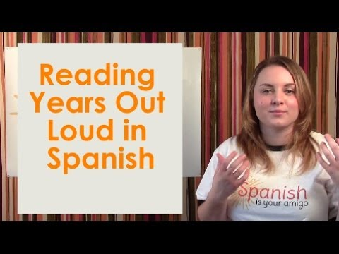 Learn to read years in Spanish