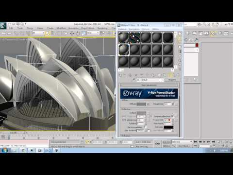 Architecture tutorial 3Ds Max Applying Materials 6