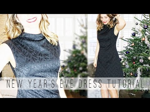 DIY New Year's Eve Dress 💄⭐   LBD for the Holidays
