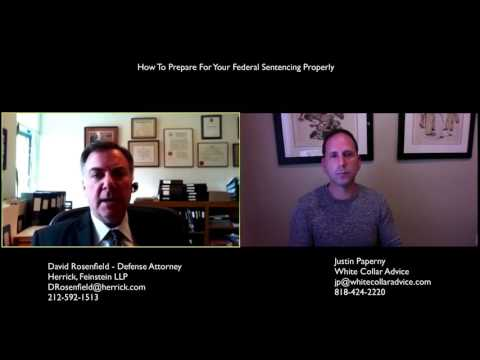 How To Prepare For Your Federal Sentencing (David Rosenfield Interview, Herrick Feinstin LLP)