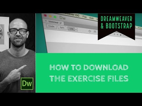 How to get the Exercise Files for your Dreamweaver Website - Dreamweaver Tutorial [2/54]
