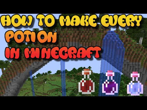 Minecraft 1.8+ Brewing | How to Brew/Make All the Potions in Minecraft