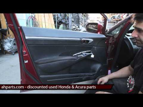 How to change replace install door panel & mirror DIY fix Honda Civic 2006 2007 2008 2009 2010 2011