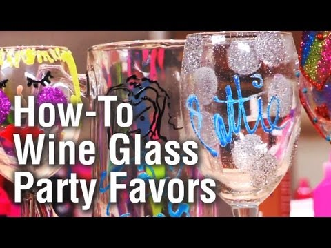Threadbanger Party: How to make Personalized Wine Glass Party Favors