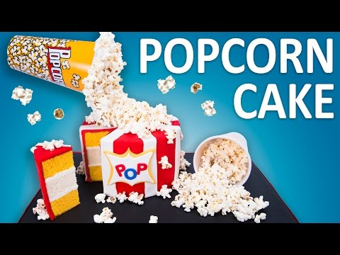 How to Make a Gravity Defying Popcorn Cake (Cooking Fever Cake) from Cookies Cupcakes and Cardio