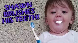 FUNnelVis SHAWN'S 1st STEPS + Won't Go To Sleep + Brushing Teeth!! FUNnel V Vlog