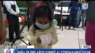 Niña de 3 años de edad venció el Covid-19 en Sololá