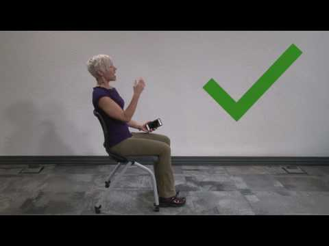 How to have good posture while sitting and using your phone
