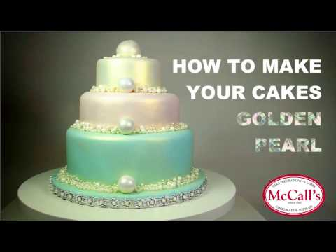 How to make your cakes golden pearl