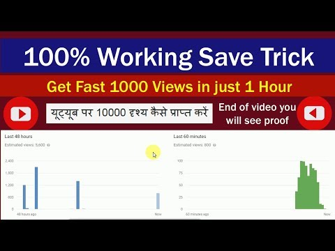 How to Get 10k Views on Youtube Fast in just 1 hour (100% Working Trick)